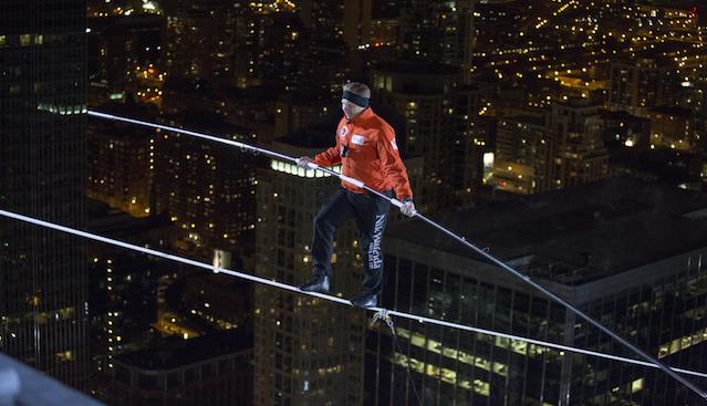 Nik Wallenda Tightrope Chicago
