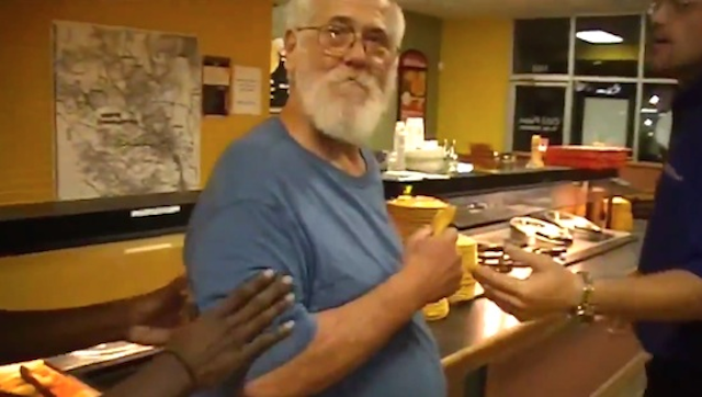 Old Man Trashes Pizzeria