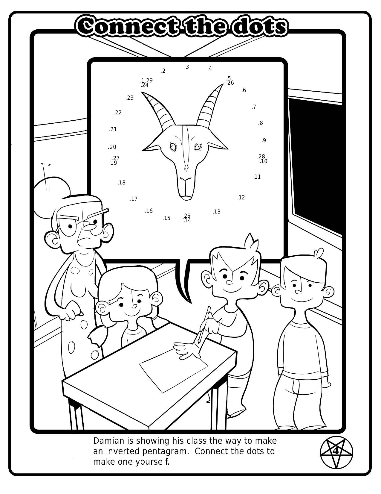 Satanist Activity Book Page 5