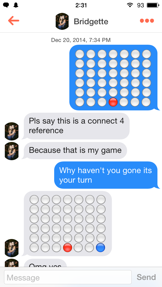Tinder Connect 4 Game
