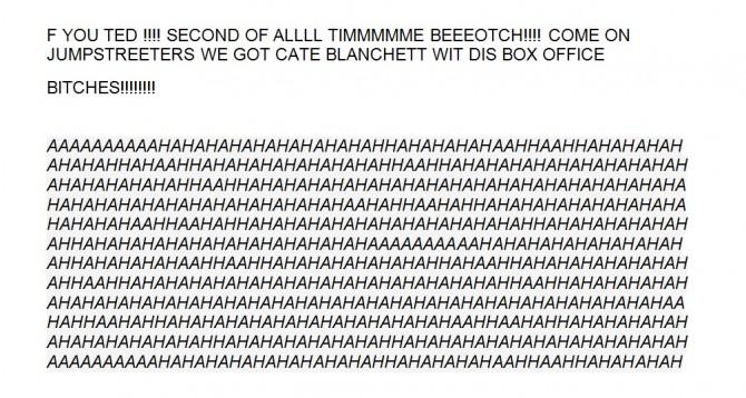 Channing Tatum leaked e-mail