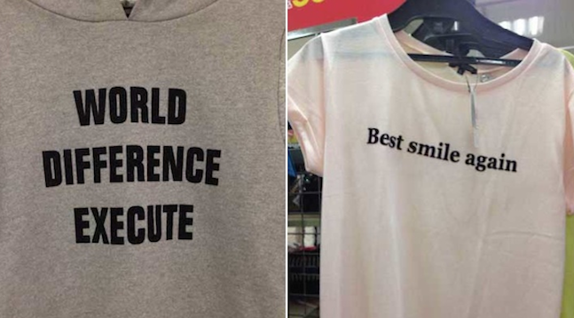 English Japanese T-shirts