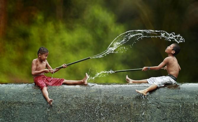 Herman Damar Indonesia - water fight