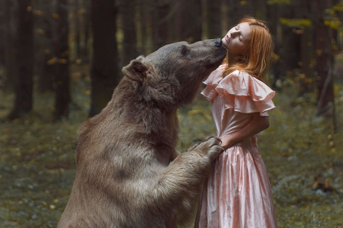 Katerina Plotnikova - Girl And Bear 2