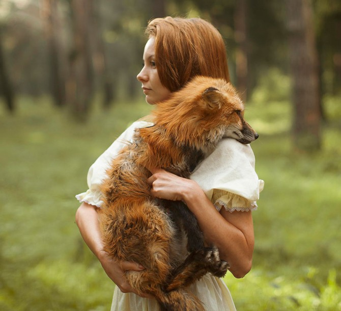 Katerina Plotnikova - Girl And Fox 2