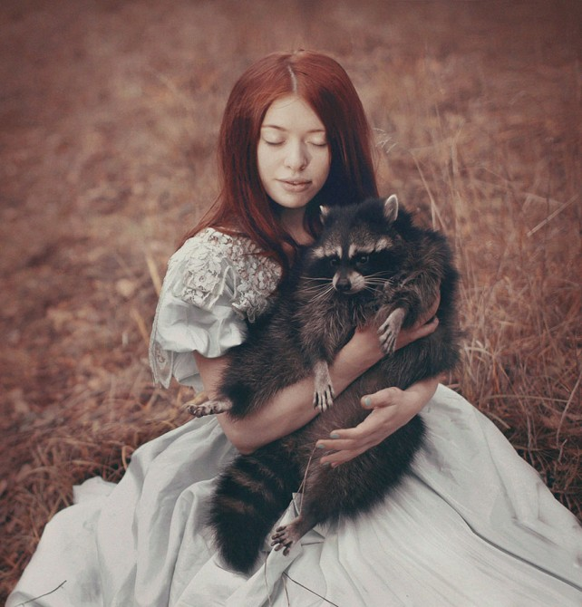 Katerina Plotnikova - Girl And Raccoon