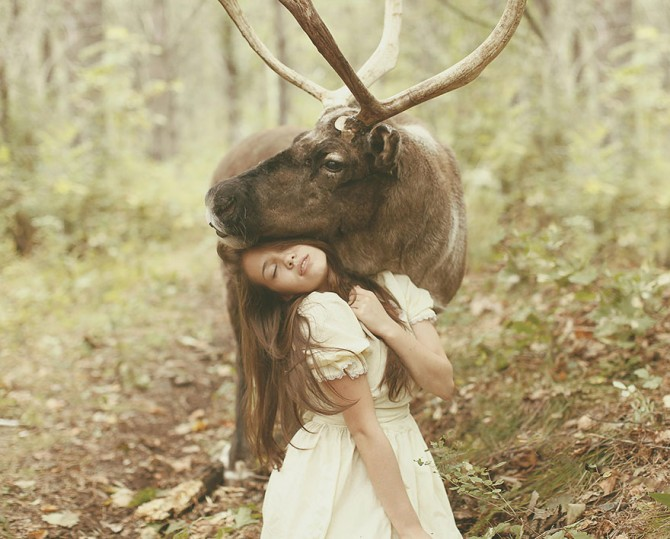 Katerina Plotnikova - Girl And Stag