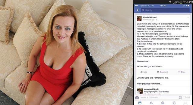 Sydney Hostage Demands Facebook