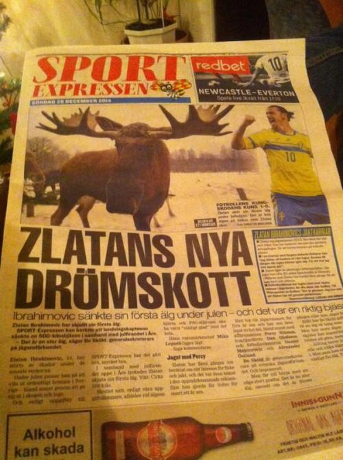 Zlatan Kills Moose 1