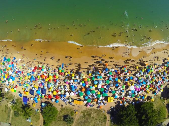 Best Drone Photos - Praia da Bacutia em Guarapari, Espirito Santo, Brazil
