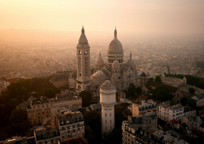 Best Drone Photos - Sacre-Coeur, on the tip of Montmartre, in Paris