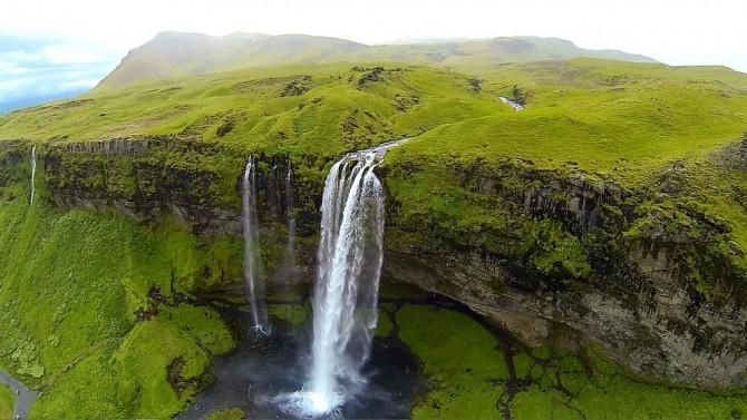 Best Drone Photos - Seljalandsfoss, Iceland