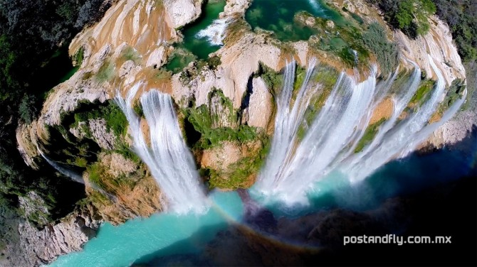 Best Drone Photos - Tamul waterall in the state of San Luis Potosi, Mexico
