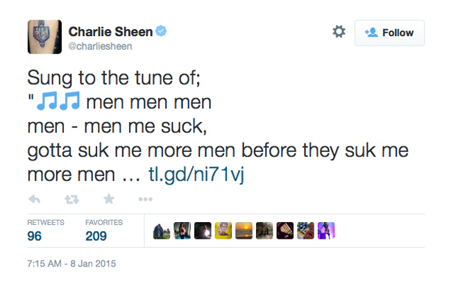 Charlie Sheen Two And A Half Men Tweet 3
