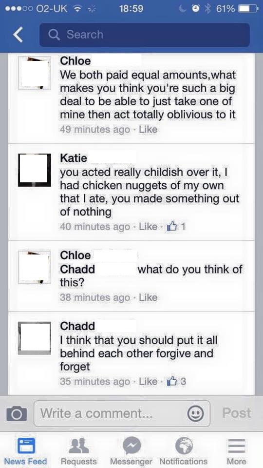 Chicken Nuggets Argument 2