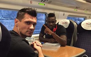 Dejan Lovren Mario Balotelli Train