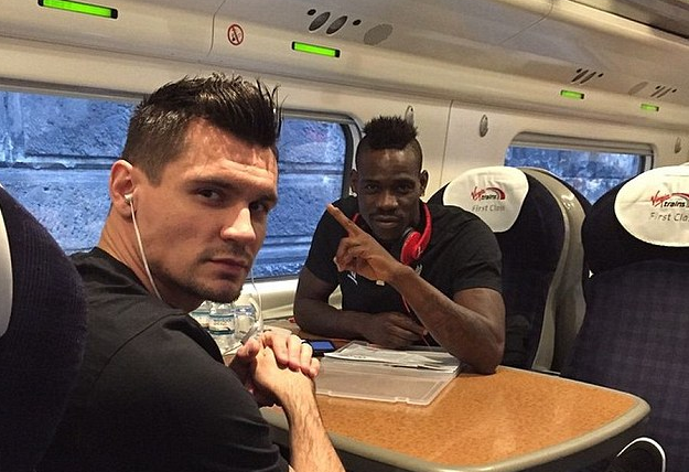 Dejan Lovren Mario Balotelli Train