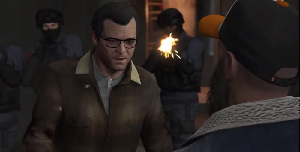 GTA V Glitched Scene