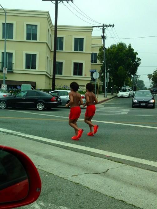 Glitches In The Matrix - red joggers