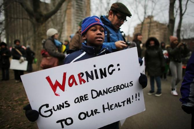 Gun Control Activists March Across Brooklyn Bridge