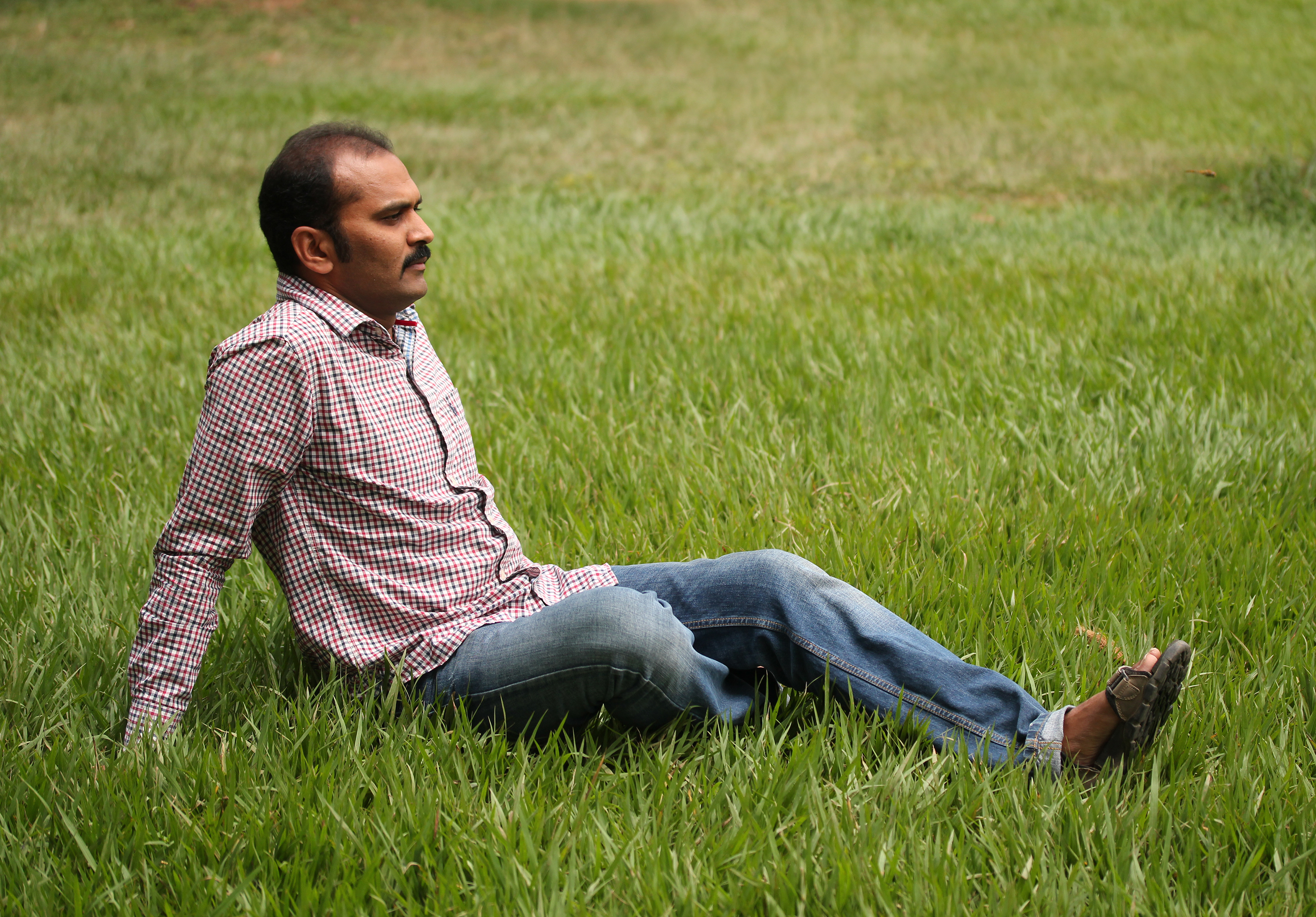 Indian Man Relax