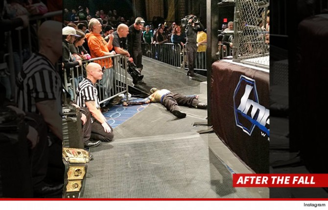 Jeff Hardy Knocked Out