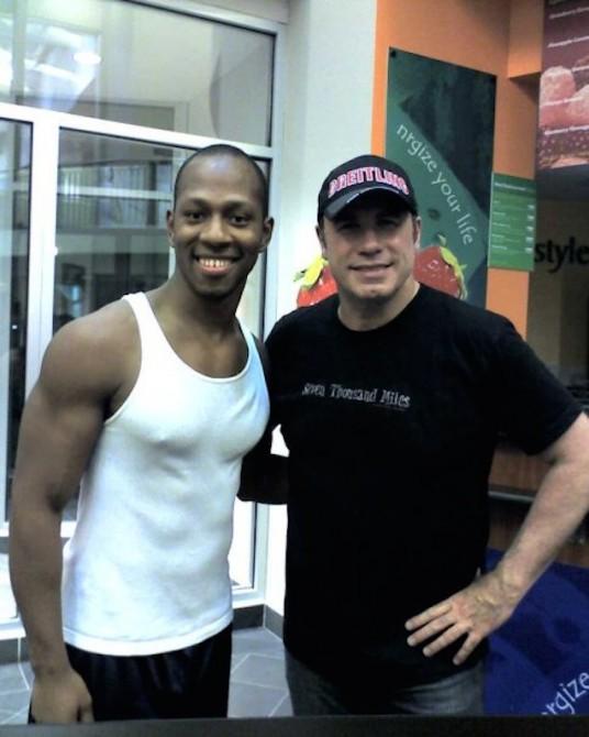 John Travolta Gym Selfie