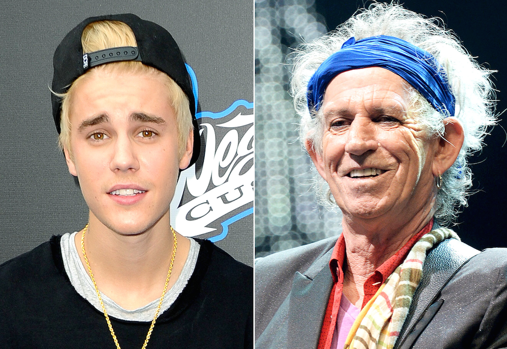 Justin Bieber Keith Richards