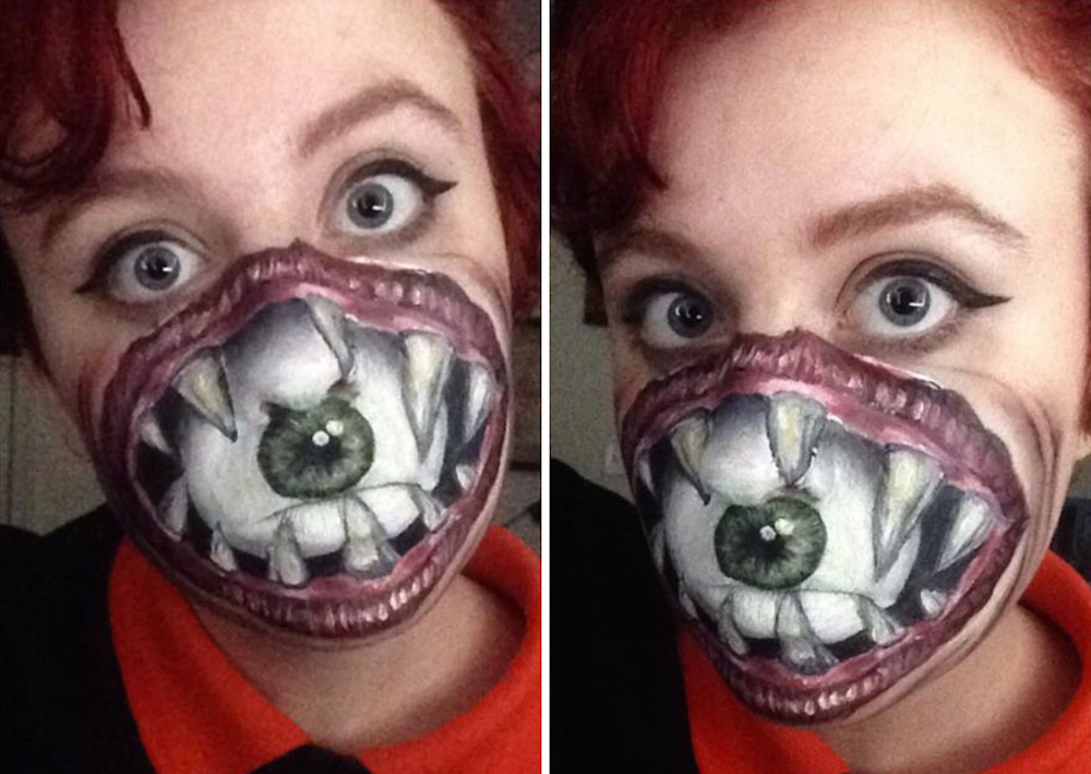 Most Terrifying Face Paint Ever