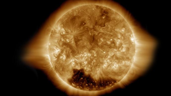 Nasa Image Sun Hole Corona