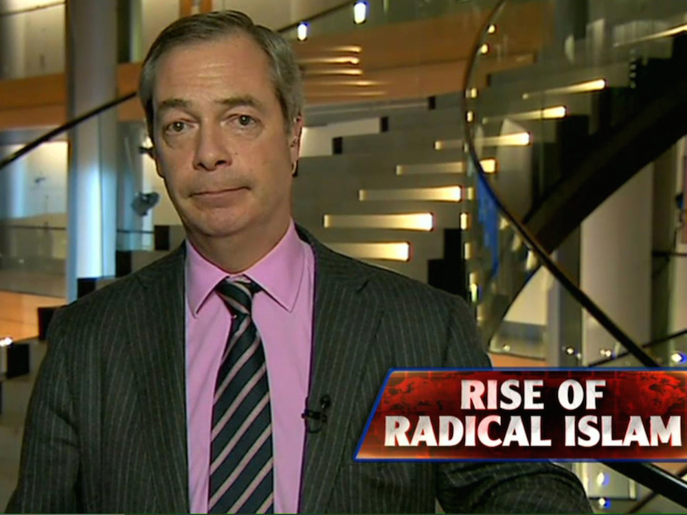 Nigel Farage Sean Harrity Fox News