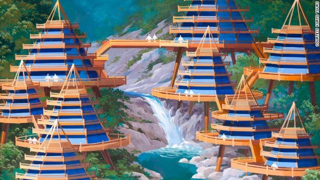 North-Korea-Futuristic-Architecture-Mount-Kumgang-region