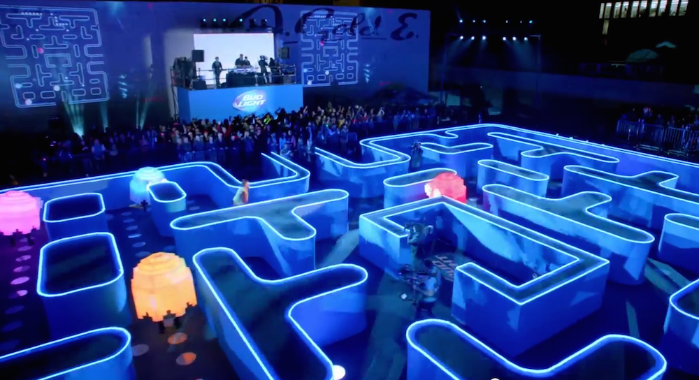 Bud Light Created A Real Life Pac Man Maze For Their