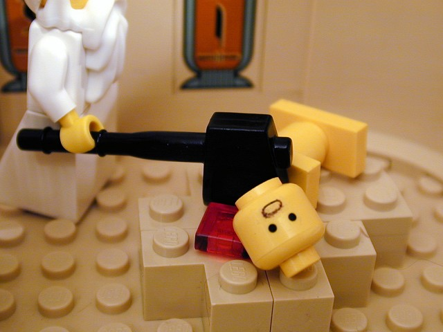 The Brick Testament - 10th plague decapitation