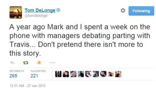 Tom Delonge Tweet