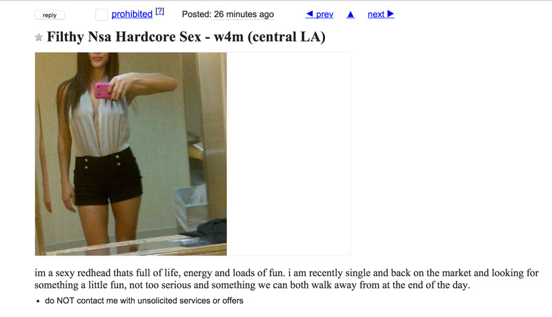 casual sexual encounters craigslist encounter