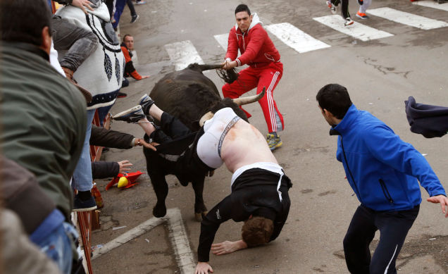 American Student Gored Bulls 1