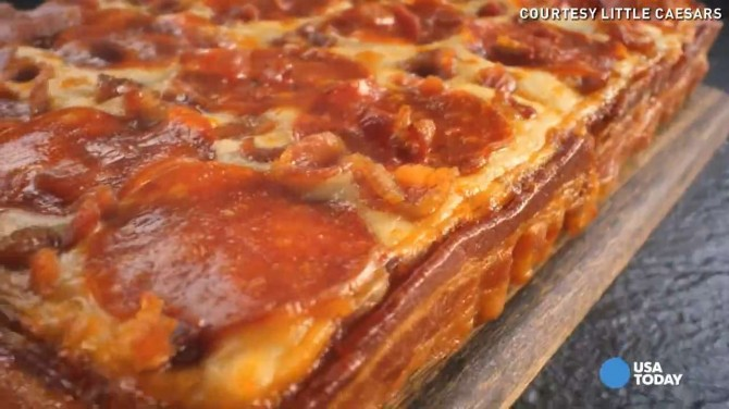 Bacon Wrapped Pizza 1