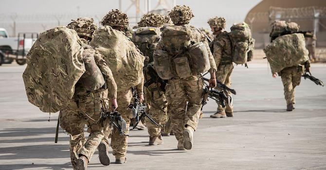 British Soldiers Entering A Modern Era