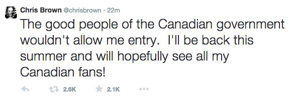 Chris Brown Tweet 1