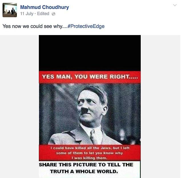 Hitler Facebook Post