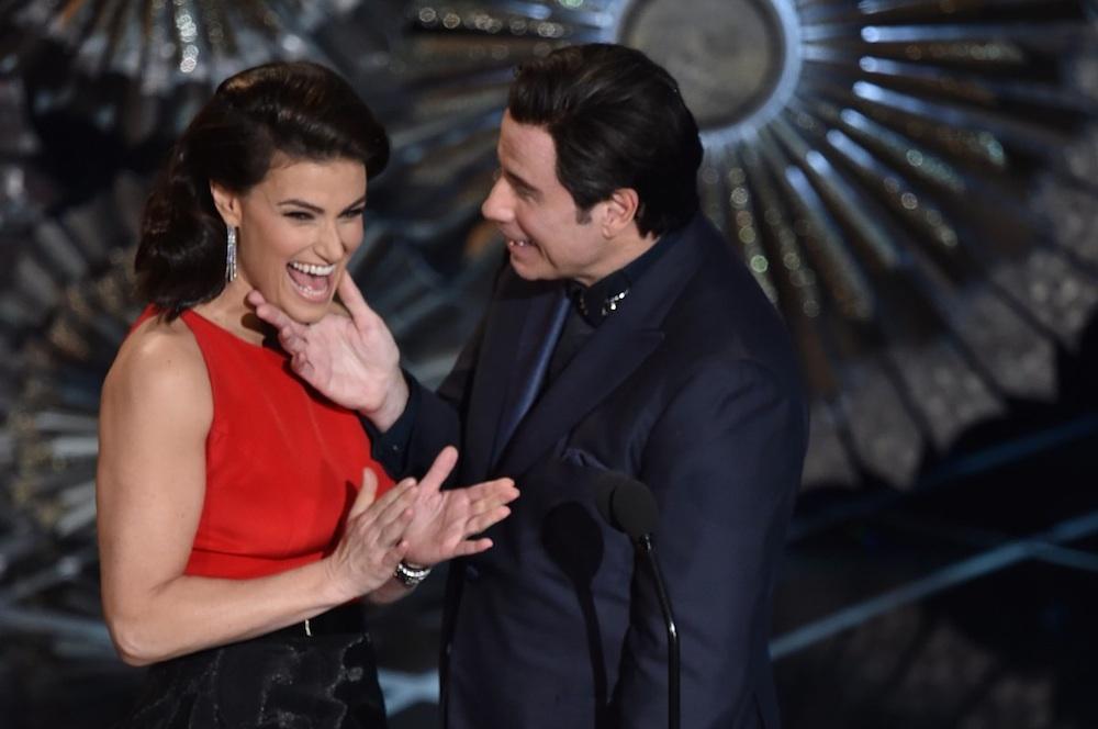 John Travolta Oscars 2015