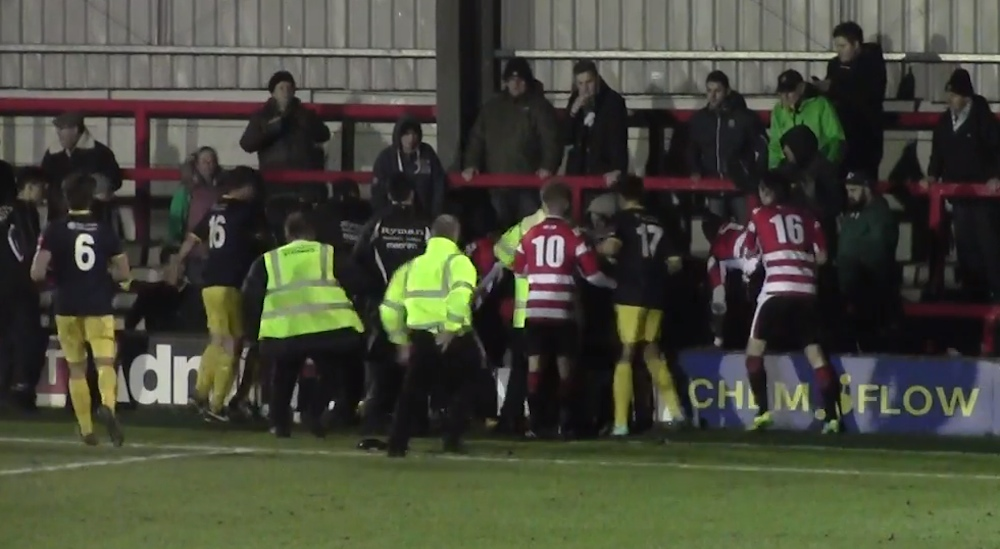 Kingstonian Keeper Attacks Fan