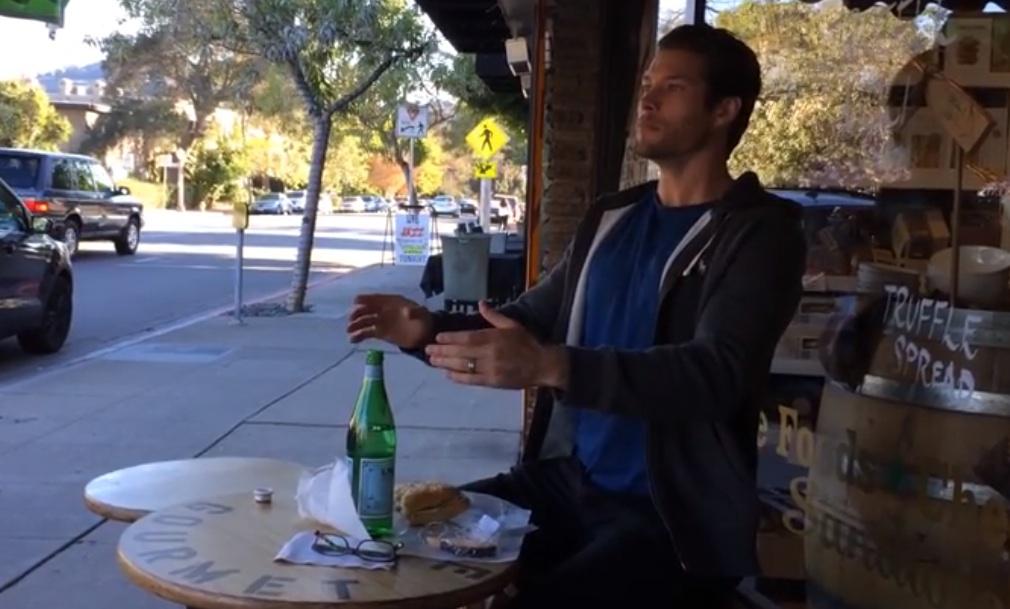 Man Eats Sanwich Like Robot