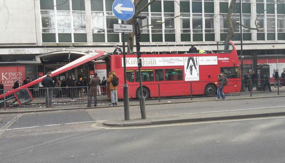 Roof Ripped Off London Bus