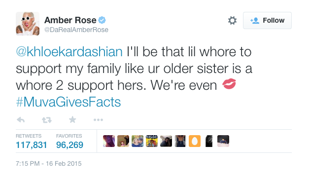 Amber Brown Khloe Kardashian Tweet