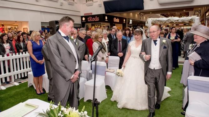 Shopping Centre Wedding