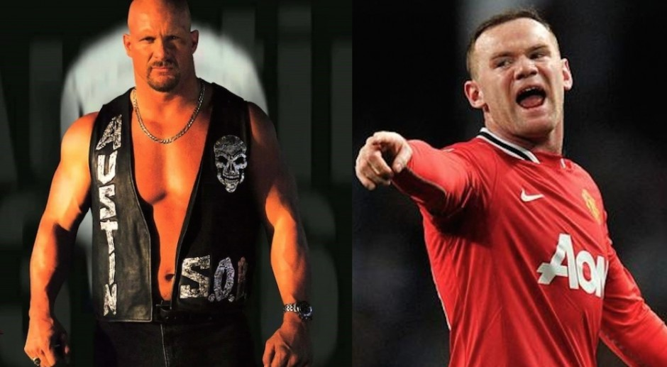 Wayne Rooney Vs Wade Barrett Wayne Rooney And Stone Cold Steve Austin Vs Wade Barrett And Kevin