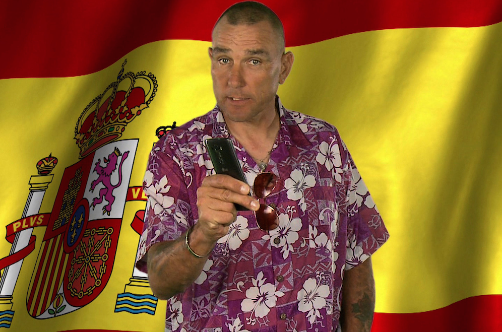 Vinnie Jones Spanish Lessons