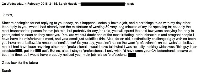 Is This The Rudest Job Rejection Letter Ever? – Sick Chirpse
